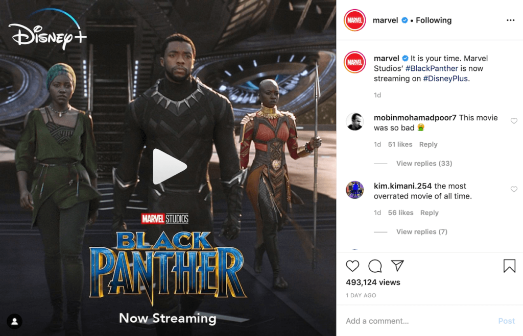 instagram black panther