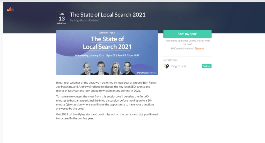 the state of local search